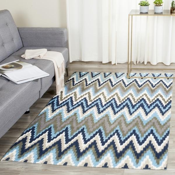 Safavieh Handmade Cedar Brook Teal/ Blue Cotton Rug (8' X