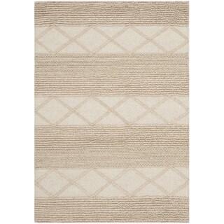 Safavieh Hand-Tufted Natura Beige Wool Rug (3' x 5')