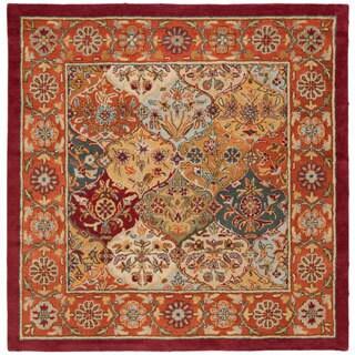 Safavieh Handmade Heritage Traditional Bakhtiari Multi/ Red Wool Rug (4' Square)