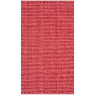 Safavieh Casual Natural Fiber Handmade Red Jute Rug (2' x 3')