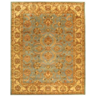 Safavieh Handmade Heritage Timeless Traditional Blue/ Beige Wool Rug (8' x 10')