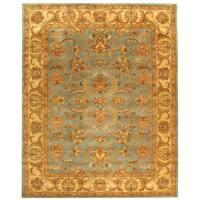 Safavieh Handmade Heritage Timeless Traditional Blue/ Beige Wool Rug (8' x 10')