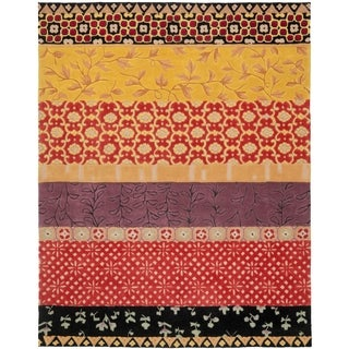 Safavieh Handmade Rodeo Drive Bohemian Collage Rust/ Gold Wool Rug (8' x 10')