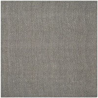 Safavieh Casual Natural Fiber Hand-Woven Light Grey Chunky Thick Jute Rug - 4' Square