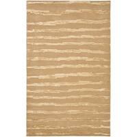 Safavieh Hand-Tufted Soho Beige/ Gold Wool Rug (8' x 10') - 8' x 10'