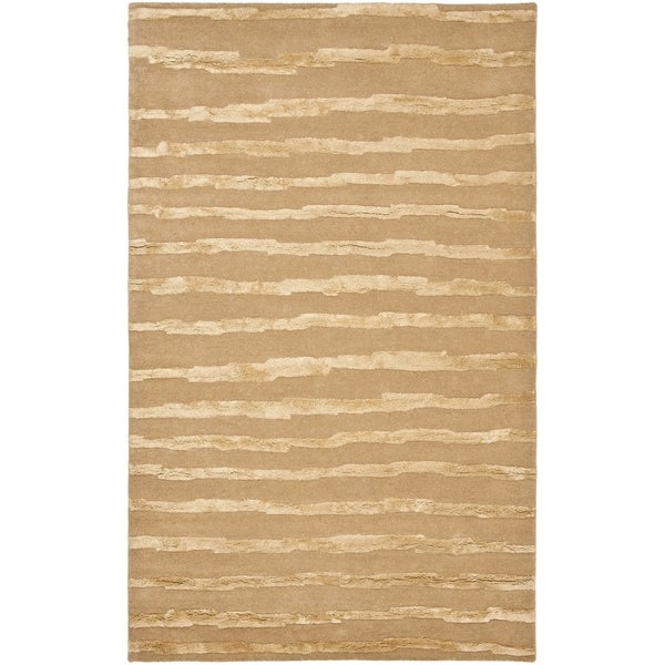 Safavieh Hand-Tufted Soho Beige/ Gold Wool Rug - 8' x 10'