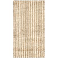 Safavieh Casual Natural Fiber Hand-Woven Natural / Ivory Jute Rug (2' x 3') - 2' x 3'