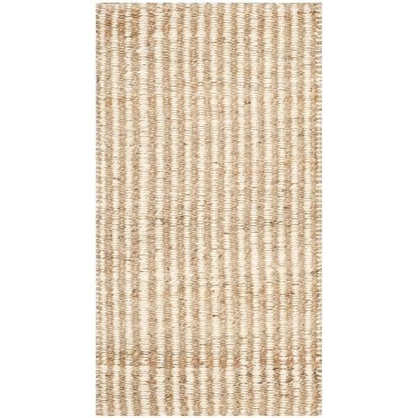 Safavieh Casual Natural Fiber Hand-Woven Natural / Ivory Jute Rug (2' x 3')