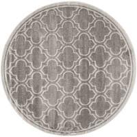 Safavieh Indoor/ Outdoor Amherst Grey/ Light Grey Rug - 5' Round