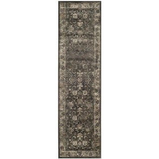 Safavieh Antiqued Vintage Soft Anthracite Viscose Runner (2'2 x 7')