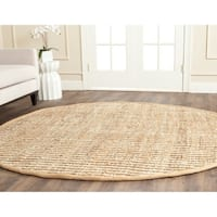 Safavieh Casual Natural Fiber Hand-Woven Natural / Ivory Jute Rug - 5' Round