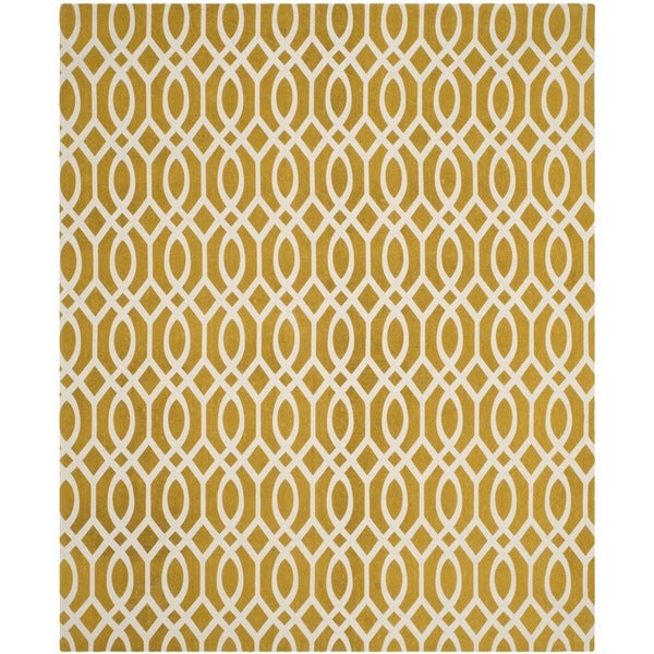 Safavieh Handmade Cedar Brook Citron/ Ivory Cotton Rug - 9' x 12'