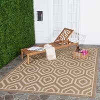 Safavieh Courtyard Honeycomb Brown/ Bone Indoor/ Outdoor Rug - 9' x 12'