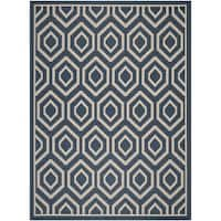 Safavieh Courtyard Honeycomb Navy/ Beige Indoor/ Outdoor Rug - 9' x 12'