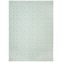 Safavieh Handmade Cedar Brook Ivory/ Light Teal Cotton Rug - 9' x 12'