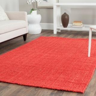 Safavieh Casual Natural Fiber Handmade Red Jute Rug (9' x 12')