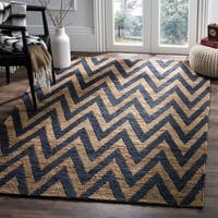 Safavieh Hand-Knotted Organica Blue/ Natural Jute Rug - 9' x 12'