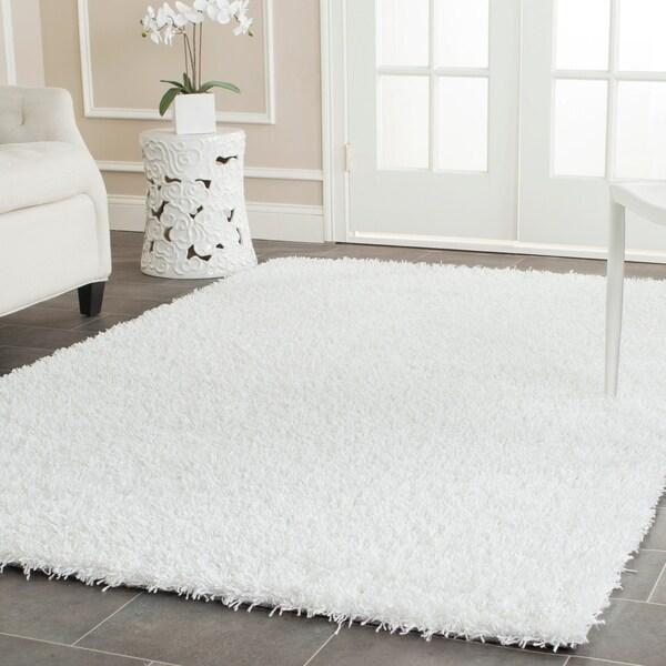 Safavieh Handmade Monterey Shag White Polyester Area Rug - 9' x 12'