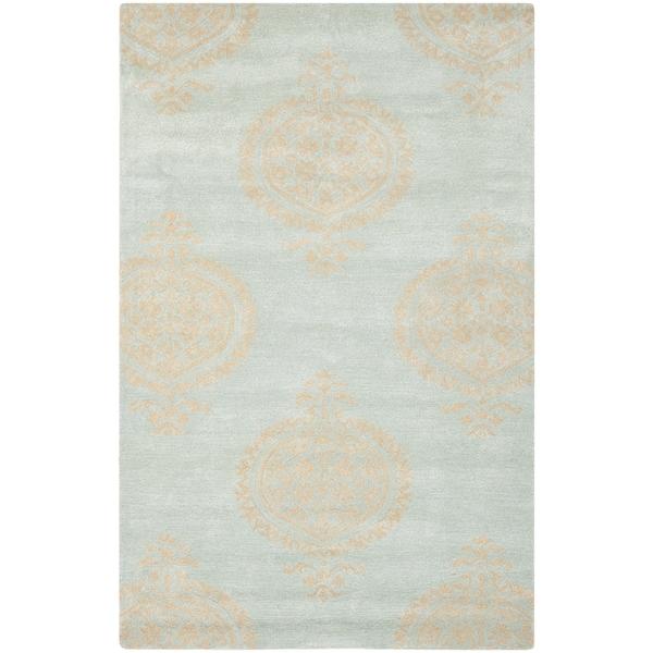 Safavieh Hand-Tufted Soho Blue/ Beige Wool/ Viscose Rug (8'3 x 11')