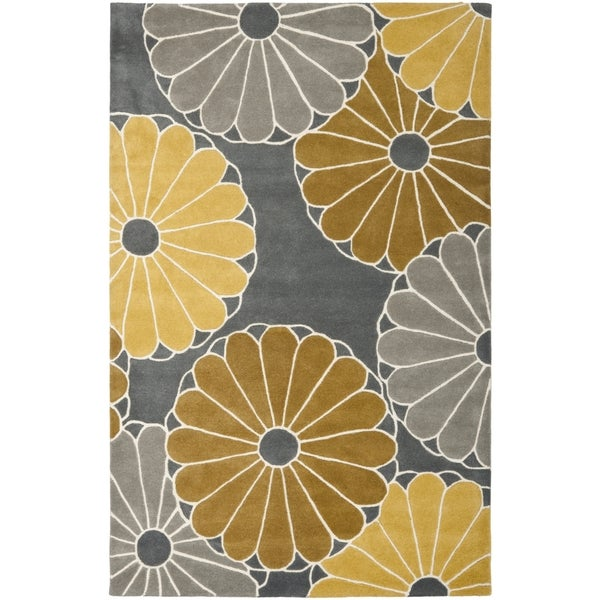 Safavieh Hand-Tufted Soho Grey/ Yellow Wool/ Viscose Rug - 8'3 x 11'