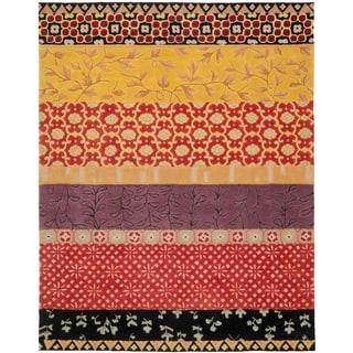 Safavieh Handmade Rodeo Drive Bohemian Collage Rust/ Gold Wool Rug (9' x 12')