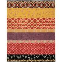 Safavieh Handmade Rodeo Drive Bohemian Collage Rust/ Gold Wool Rug - 9' x 12'