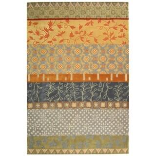 Safavieh Handmade Rodeo Drive Bohemian Collage Multicolored Wool Rug (9' x 12')