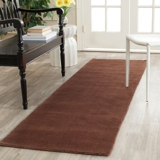 Safavieh Handmade Himalaya Solid Brown Wool Runner Rug (2'3 x 10')