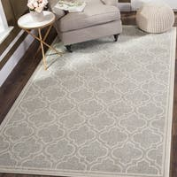 Safavieh Indoor/ Outdoor Amherst Light Grey/ Ivory Rug - 10' x 14'