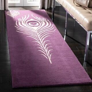 Safavieh Hand-Tufted Soho Purple/ Ivory Wool/ Viscose Rug (2'6 x 12')