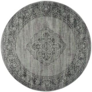 Safavieh Vintage Oriental Light Blue Distressed Silky Viscose Rug (8' Round)