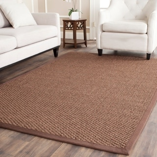 Safavieh Casual Natural Fiber Chocolate Sisal Rug (6' x 9')