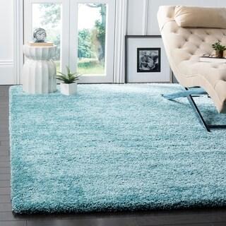 Safavieh Milan Shag Aqua Blue Rug (6' x 9')