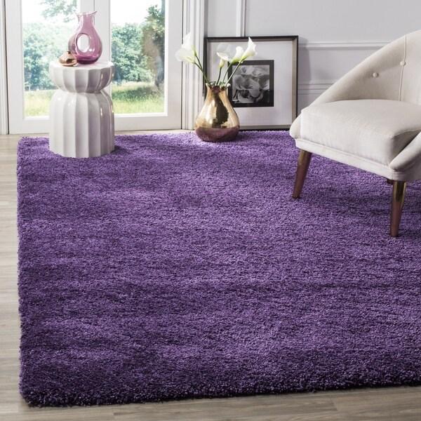 Attractive Safavieh Milan Shag Purple Rug (6u0027 ...