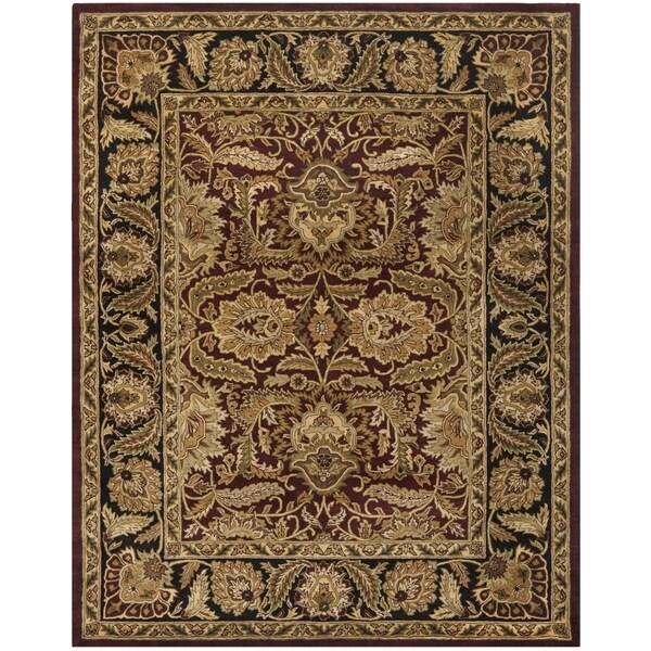 Safavieh Hand-Tufted Classic Burgundy/ Black Wool Rug - 9'6 x 13'6