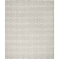 Safavieh Hand-woven Reversible Dhurries Grey/ Ivory Wool Rug - 10' x 14'