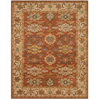 Safavieh Handmade Heritage Timeless Traditional Rust/ Beige Wool Rug (9'6 x 13'6)