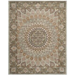 Safavieh Handmade Heritage Timeless Traditional Blue/ Grey Wool Rug (9'6 x 13'6)