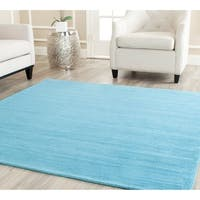 Safavieh Handmade Himalaya Solid Turquoise Blue Wool Area Rug - 10' x 14'