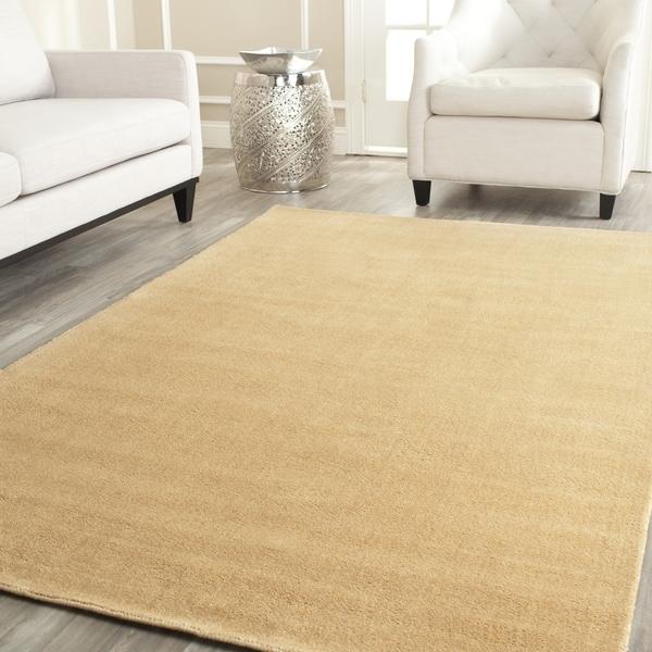 Safavieh Handmade Himalaya Solid Beige Wool Area Rug (10' x 14')