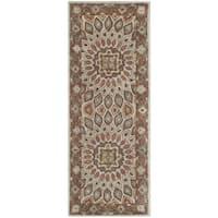 Safavieh Handmade Heritage Timeless Traditional Blue/ Grey Wool Rug - 2'3 x 14'