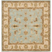 Safavieh Handmade Heritage Timeless Traditional Light Blue/ Beige Wool Rug (8' Square)