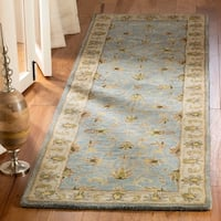 Safavieh Handmade Heritage Timeless Traditional Light Blue/ Beige Wool Rug - 2'3 x 18'