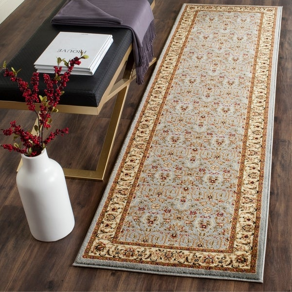 "Safavieh Lyndhurst Traditional Oriental Light Blue/ Ivory Runner Rug - 2'3"" x 21'"