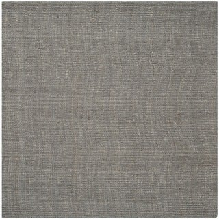 Safavieh Casual Natural Fiber Hand-Woven Light Grey Chunky Thick Jute Rug (8' Square)