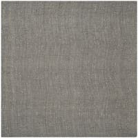 Safavieh Casual Natural Fiber Hand-Woven Light Grey Chunky Thick Jute Rug - 8' Square