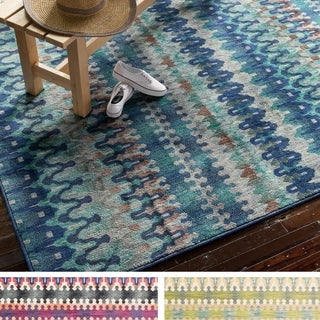 Skye Monet Multi Stripe Rug (5'2 x 7'7)