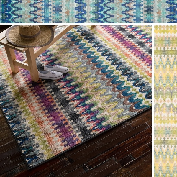 Skye Monet Multi Stripe Rug - 5'2 x 7'7