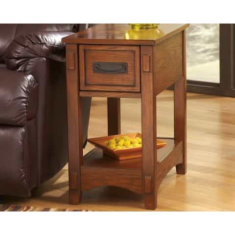 Breegin Chairside End Table - Brown