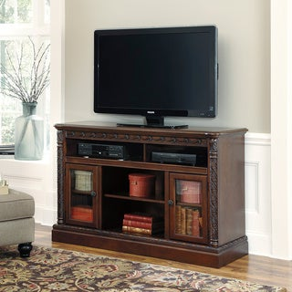 Signature Designs by Ashley North Shore Dark Brown Finish TV Stand
